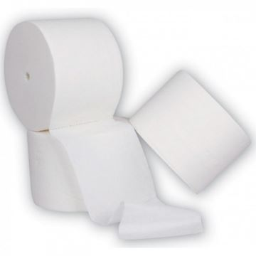 Picture of ESPRIT CORELESS TOILET ROLL 2PLY WHITE (Case of 36)