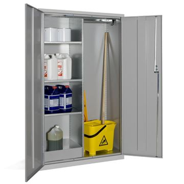 Picture of JANITORIAL STORAGE CABINET 1830mm x 1220mm x 457mm