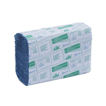 Picture of BAY WEST MICRO FOLDED HAND TOWEL 1PLY BLUE 00490 (Case of 3000)
