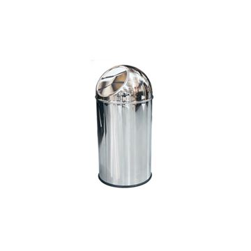 Picture of DOLPHIN POLISHED STAINLESS STEEL BIN (LID ONLY) BC105 - 35 Litre