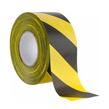 Picture of YELLOW / BLACK ADHESIVE WARNING TAPE