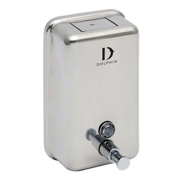 Picture of DOLPHIN POLISHED STAINLESS STEEL SOAP DISPENSER - 1200ml BC923B