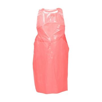 Picture of PLASTIC DISPOSABLE APRONS RED (Pack of 100)