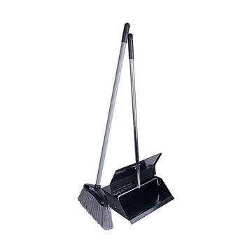 Picture of LOBBY DUSTPAN WITH BRUSH METAL SET