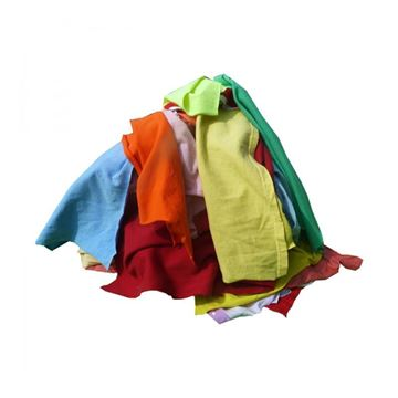 Picture of COLOURED RAG WIPERS - 10kg