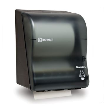 Picture of BAY WEST WAVE N DRY HAND TOWEL DISPENSER - BLACK