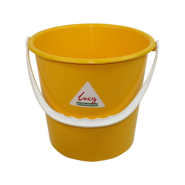 Picture of PLASTIC 2 GALLON BUCKET ROUND YELLOW
