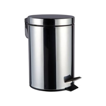 Picture of DOLPHIN POLISHED STAINLESS STEEL PEDAL BIN BC112 - 28 Litre