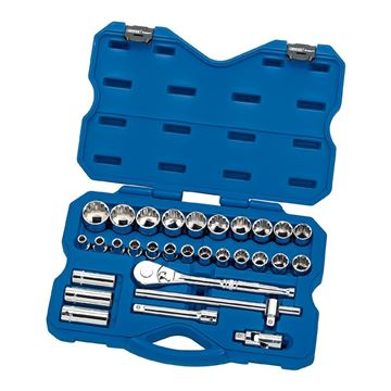Picture of DRAPER METRIC SOCKET SET 30 PIECE 1/2""