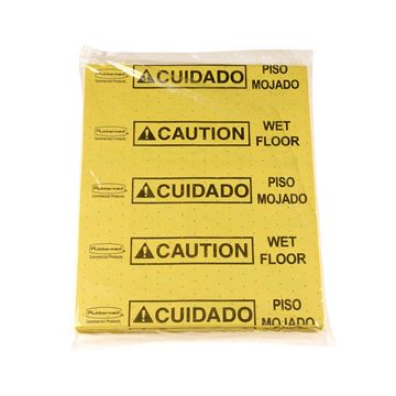 Picture of OVER SPILL PADS YELLOW CAUTION (Pack of 25)