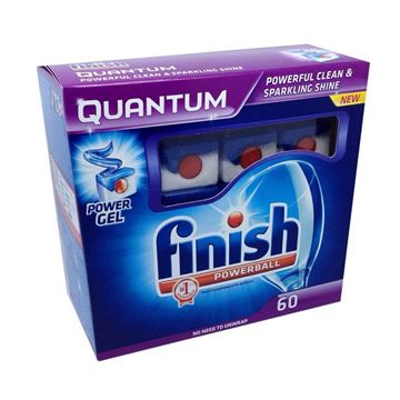 Picture of FINISH QUANTUM POWERBALL DISHWASHER TABLETS (Pack of 60)