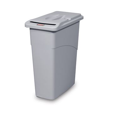 Picture of RUBBERMAID SLIM JIM CONFIDENTIAL WASTE BIN LOCKABLE FG9W1500 - 87 Litre