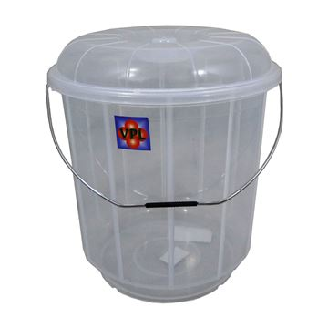Picture of CLEAR BUCKET BIN WITH LID - 7 Litre