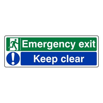 Picture of FIRE EXIT SIGN RIGID SELF ADHESIVE - 150mm x 450mm