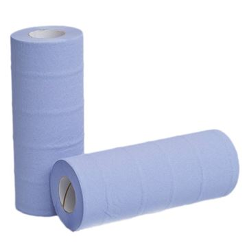 """Picture of 10"""" Blue 2Ply Hygiene Roll  (Case of 24)"""