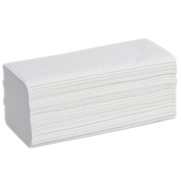 Picture of WIDE INTERFOLD HAND TOWEL 2PLY - WHITE (Case of 3000)