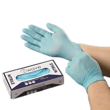 Picture of DISPOSABLE NITRILE POWDER FREE GLOVES (Pack of 100)