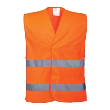 Picture of HI VIS WAIST COAT ORANGE FIRE WARDEN PRINTED