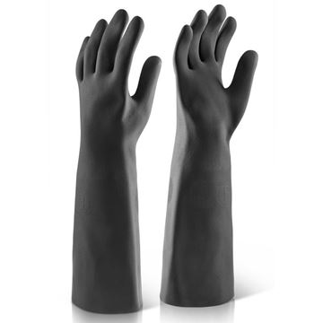 Picture of GAUNTLET GLOVES BLACK - LONG SIZE 10