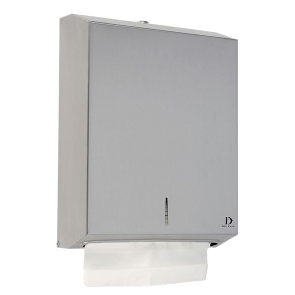 Picture of C FOLD DISPENSER BRUSHED STAINLESS STEEL