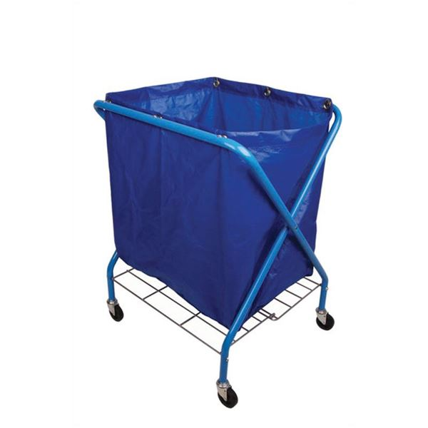 Folding Waste Cart With Vinyl Bag Wessex Cleaning