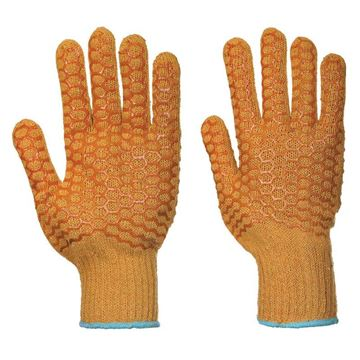 Picture of ORANGE CRISS CROSS GLOVE HIGH GRIP PAIR