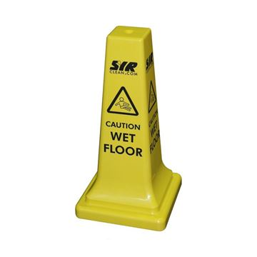 """Picture of 21"""" Sentry Wet Floor Sign Cone - Yellow"""