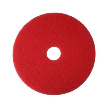 """Picture of 17"""" RED 2ND LINE 3M FLOOR PADS (Case of 5)"""