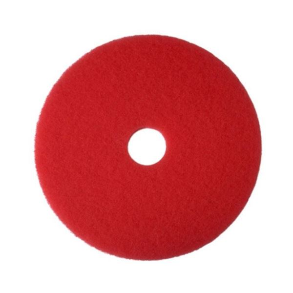 "Picture of 17"" RED 2ND LINE  FLOOR PADS (Case of 5)"