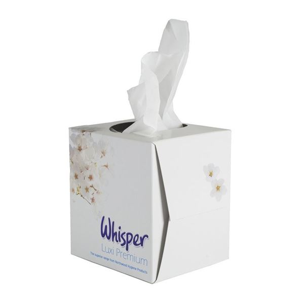 Picture of FACIAL TISSUE WHITE 2PLY CUBE 70 SHEETS (Case of 24)