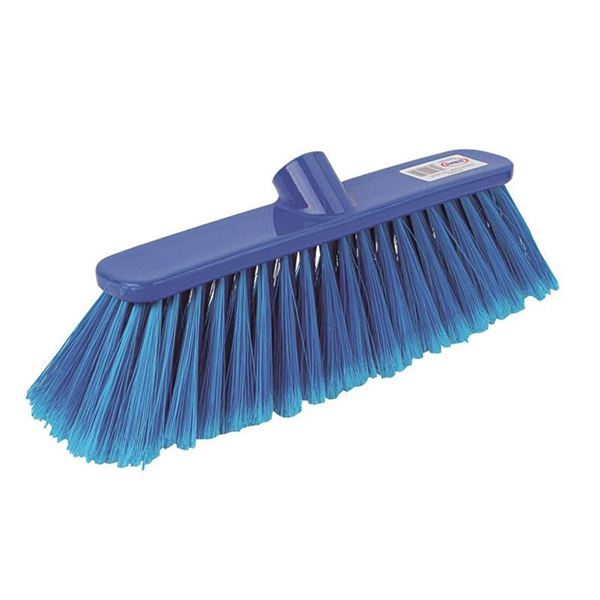 """Picture of 12"""" SOFT PLASTIC DELUXE BROOM HEAD (BLUE)"""