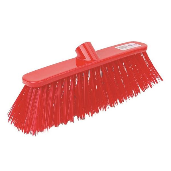 """Picture of 12"""" SOFT PLASTIC DELUXE BROOM HEAD (RED)"""