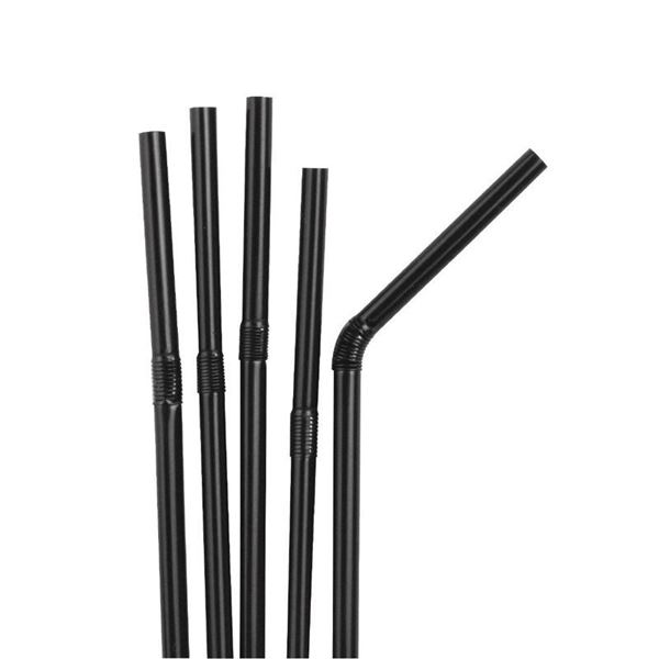 Picture of BLACK FLEXIBLE STRAWS PK250