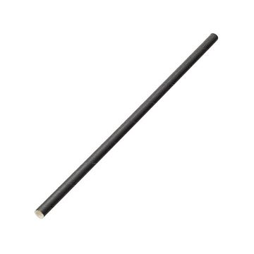 "Picture of BLACK PAPER STRAWS 8"" 6MM BORE (Pack of 250)"