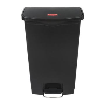 Picture of RUBBERMAID 68 LTR FRONT STEP PEDAL BIN BLACK