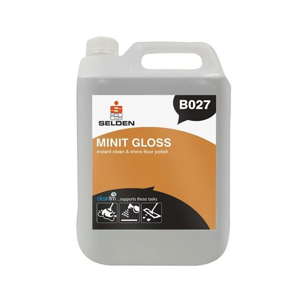 Picture of Selden Minit Gloss Instant Clean & Shine Floor Polish - 5 Litres - B027