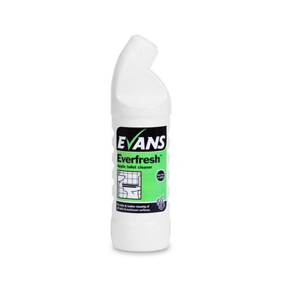 Picture of EVANS EVERFRESH TOILET CLEANER APPLE 1 Litre (Case of 6)