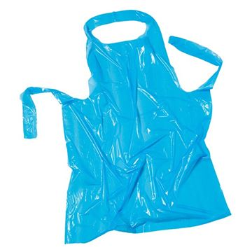 Picture of PLASTIC DISPOSABLE APRONS BLUE (Pack of 100)