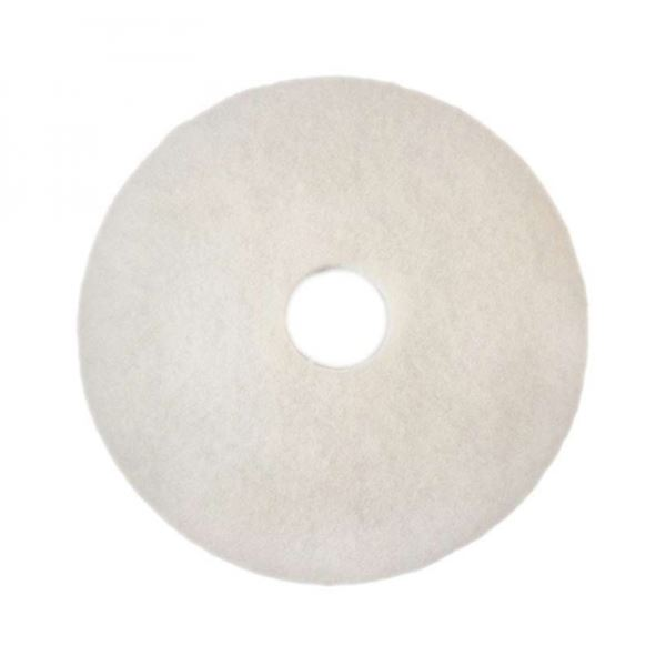 """Picture of 13""""  WHITE FLOOR PAD"""