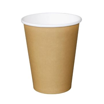 Picture of FIESTA 12OZ HOT CUP RIPPLE LIGHT BROWN (Case of 1000)