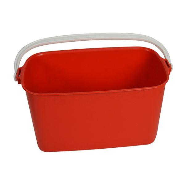 Picture of WINDOWCLEANERS BUCKET STD OBLONG RED