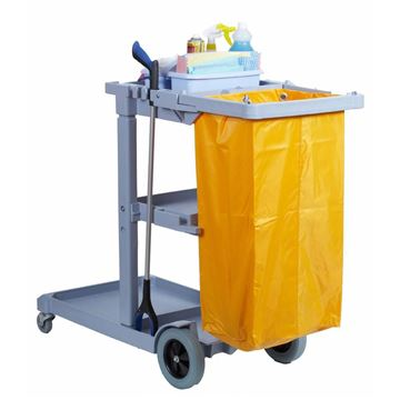 Picture of Professional Janitor/Cleaning Trolley With Vinyl Bag