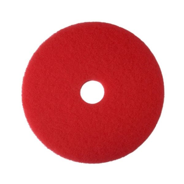 """Picture of 10""""  RED FLOOR PAD"""