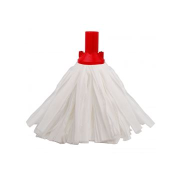 Picture of EXEL BIG WHITE PAPER MOP HEAD RED