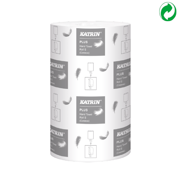 Picture of Katrin Plus Coreless 1-Ply Hand Towel Roll (Pack of 12) - 475218