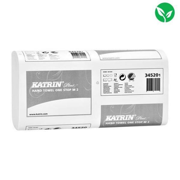 Picture of Katrin Plus 2-Ply One Stop Hand Towel M2, White (3045 Sheets) - 345201