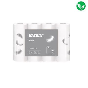Picture of Katrin Plus Kitchen Rolls 75 (Pack of 32) -  225960