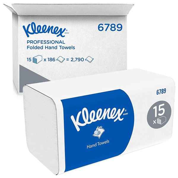 Picture of Kleenex Interfold 2ply Hand Towels - 15 Sleeves - 6789