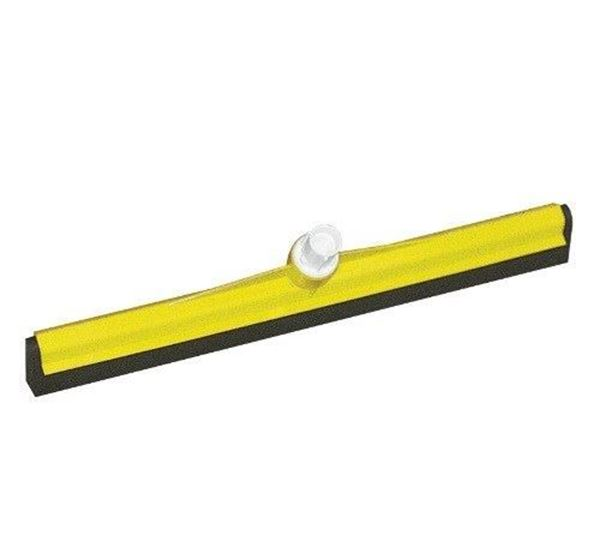 """Picture of SYR Yellow Plastic Floor Squeegee 18"""" - Head only"""