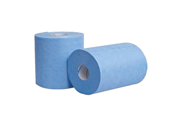 Picture of TufWipe Blue Crepe 1Ply Heavy duty all purpose wiper - Case of 4 Rolls
